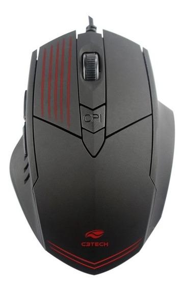 Mouse C3tech Gamer Mg-10bk Preto Profissional Jogos No Pc