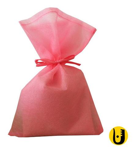 Imagem 1 de 1 de 30 Saquinhos Sacolinhas Tnt 15x23 Rosa Com Fita Cetim Rosa