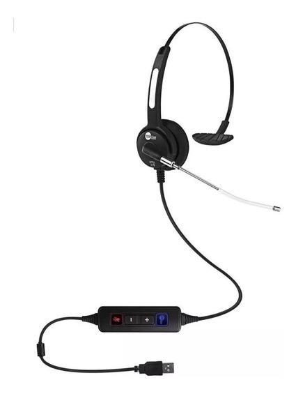 Lote 12pçs Headset Usb C/ Tubo De Voz Htu-310