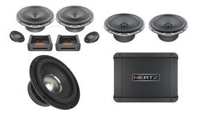 Kit 2 Vias Hertz Mpk 1650 + Mpx 165 + Hcp 4d + Sub Morel 8``
