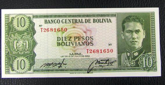 Bolivia Billete 10 Pesos Bolivianos Xf+ Año 1962 Pick 154