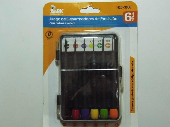 Kit De 6 Desarmadores Joyero De Precision Cabeza Movil