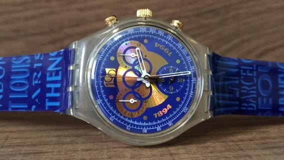 Relógio Swatch Chrono Scz101 1894-1994 100 Anos
