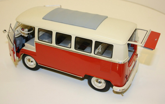 Combi T1 1963 Volkswagen Escala 1/24 Welly Metal La Plata