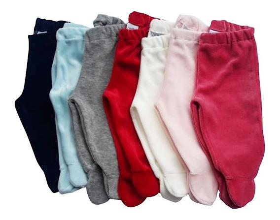 Medio Osito Pantalon Plush Lisos Ropa Bebe Varios Colores