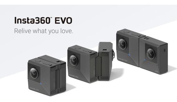 Insta360 Evo - Câmera 360 E 180 3d Vr 5.7k - Com Case Lacrad