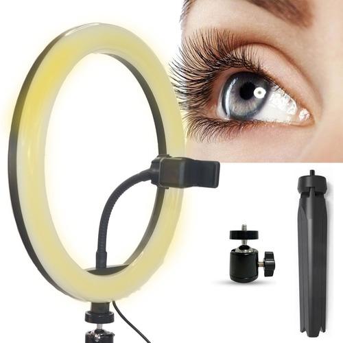 Ring Light 26cm 10'' Geniali Selfier X Com Tripé De Mesa