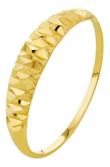Anel De Ouro 18k Feminino Diamantado 750