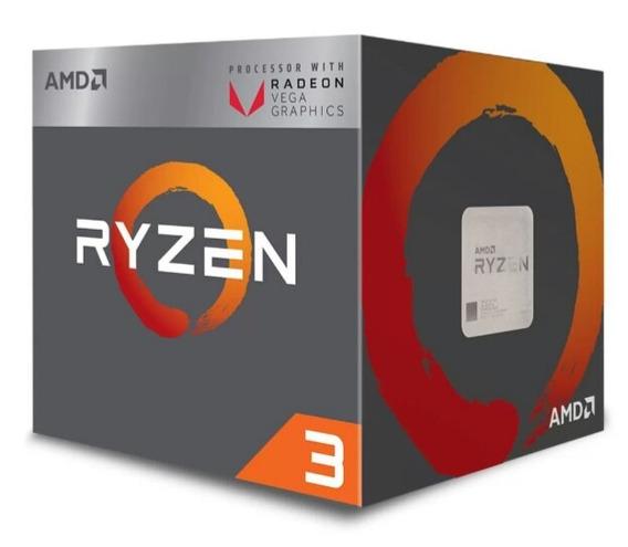 Processador Am4 Ryzen 3 2200g C/ Wraith Stealth Cooler