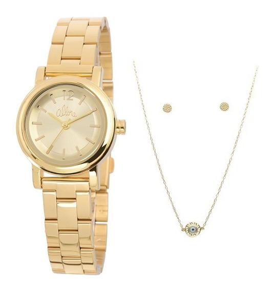 Relógio Allora Kit Feminino Al2035kq/k4d, C/ Garantia E Nf