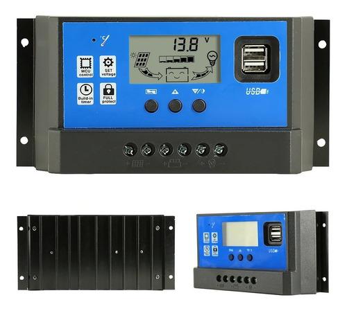 Controlador Regulador De Carga Panel Solar Usb Pwm  40 Amp