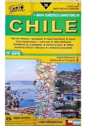 Mapa Rodoviário E Turístico Impresso Chile