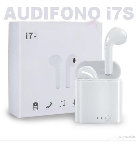 Mini Audifono Inalambrico Blanco Recargable