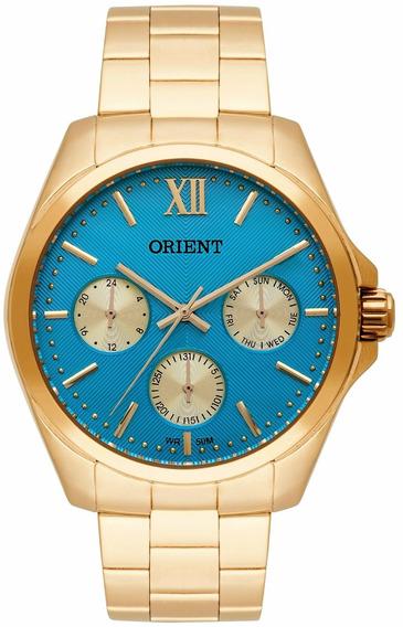 Relógio Orient Feminino Fgssm050 A3kx Azul Dourado Oferta