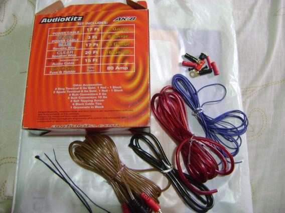 Kit Amplificador De Sonido A-k8 1200 Watts 8 Gauge, Sin Usar