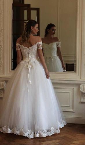 Vestido De Novia Estilo Princesa Blanco Con Encaje Kayarall