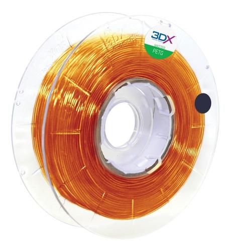 Imagem 1 de 3 de Filamento Petg 1,75 Mm | 500g |  Laranja Translucido Ambar