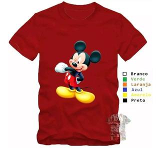 Kit 2 Camisas Camisetas Mickey E Minnie Filme Revista Swag