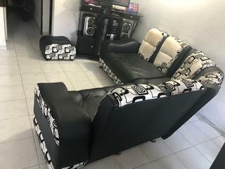 Sofa Blanco Y Negro