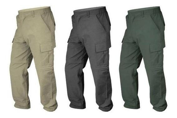 Pantalon Desmontable Trekking Cargo Secado Rapido Microfibra