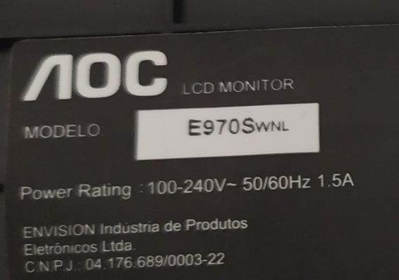 Placa Fonte E Principal Monitor Aoc Led E970swnv