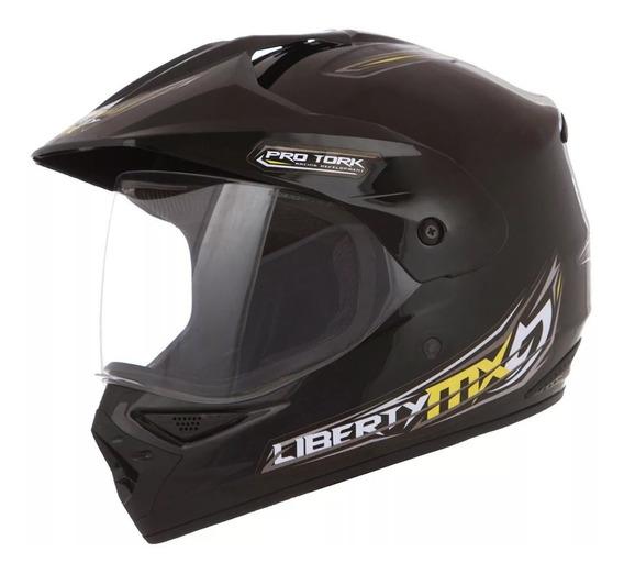 Capacete Pro Tork Liberty Mx Pro Vision Cores Moto
