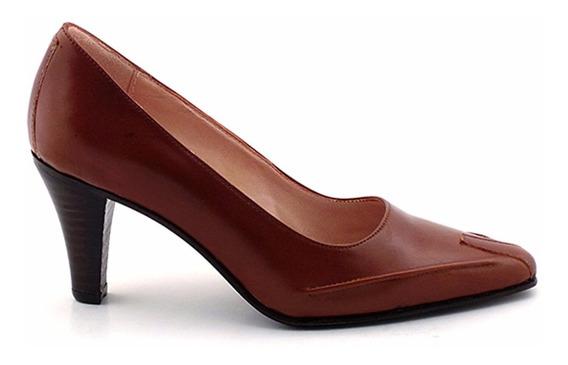 Zapato Mujer De Vestir Cuero Briganti Taco - Mccz02271