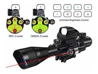 Mira Midten/pinty Ar15 Visor 4-12x50eg Punto Rojo Y Laser