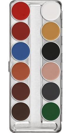 Maquillaje Compacto Aquacolor Paleta 12 Colores Kryolan