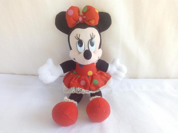 Pelucia Minnie Mouse Antiga Disney