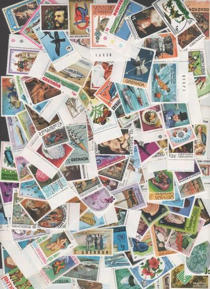 Mundiais - Lote De 125 Selos Comemorativos Diferentes Novos!