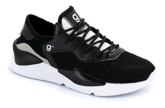 Zapatillas Dama Elastizada Oferta Originales Space Negro
