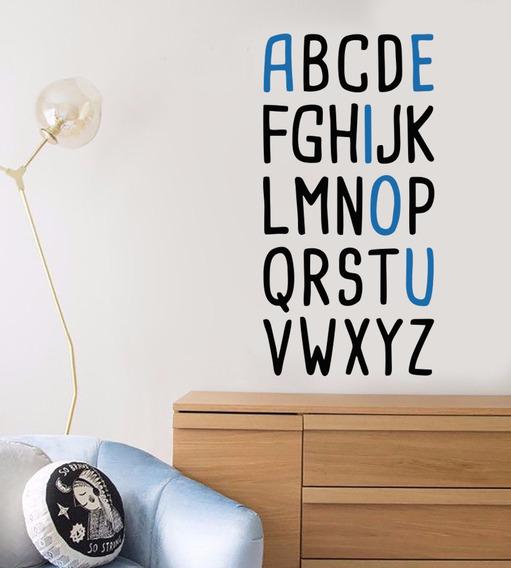 Adesivo Parede Decorativo Abecedario Alfabeto Escola Letra