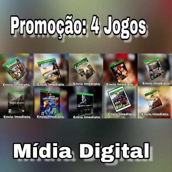 Pacote Com 4 Jogos - Xbox One - Digital + Brinde