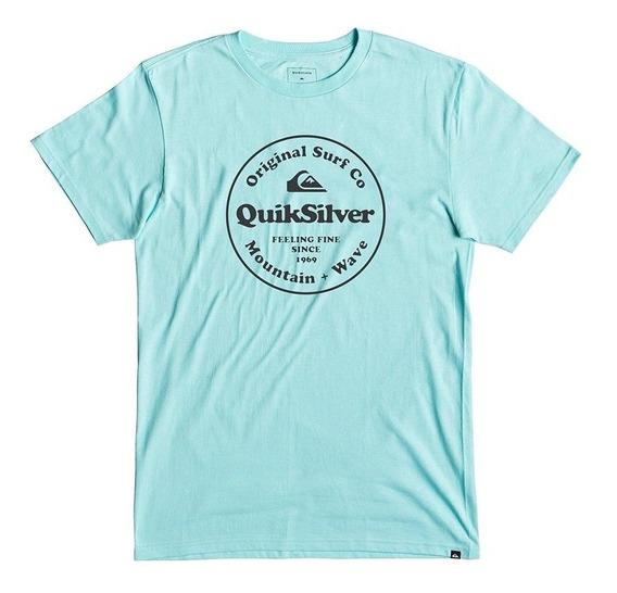 Quiksilver Remera M/c Hombre Secrent Ingredient Celeste Fkr