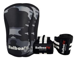 Kit Fitness Muñequera Rodilleras Neoprene Balboafit