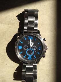 Relógio Fossil Jr1478 Cinza E Azul Direto Dos Eua