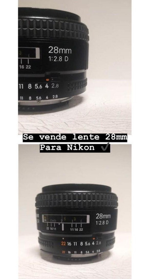Vendo Lente 28mm 2.8d Nikon