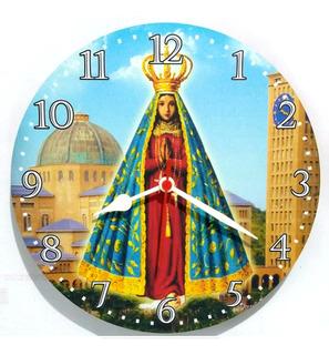 Relógio Parede Fé Nossa Senhora Aparecida Jesus Religião 30cm