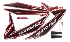 Faixas / Kit Adesivos Honda Bros 150 Es 2011 Vermelha