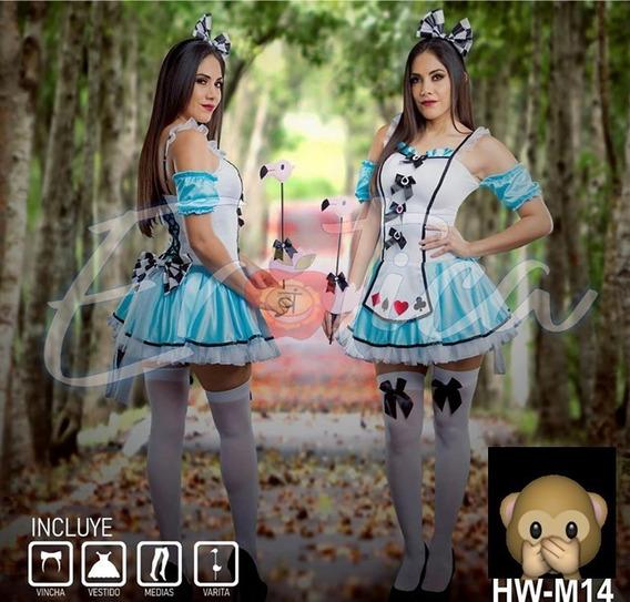 Lencería Disfraz Halloween Alicia Enfermera Policía Medias