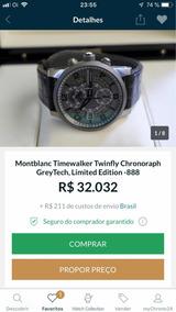 Montblanc Titaniun Edición Limited 888 Peças Troco Rolex