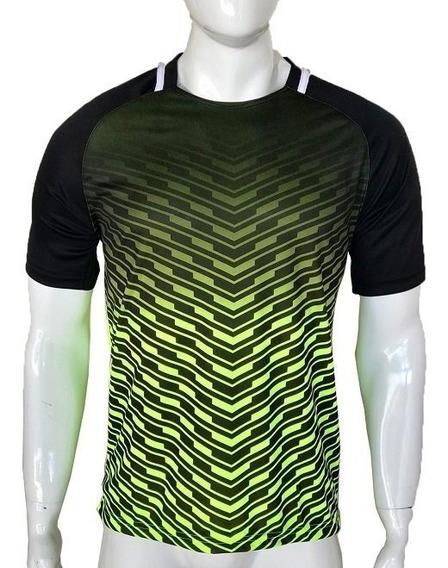 Camiseta Camisa Dry Fit Kit Com 3 Pçs Academia Treino Corrid
