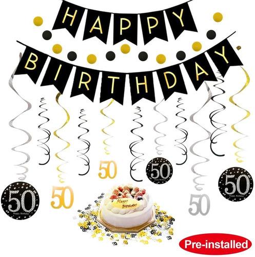 50 Cumpleaños Decoraciones Kit Para Mujeres De Los Hom...