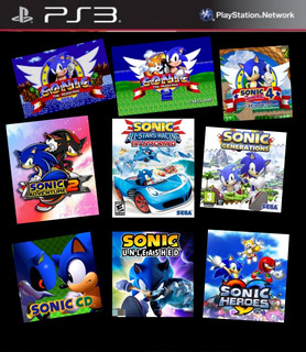 Sonic Ps3 Súper Pack - 9 Juegos - Recibí Hoy!!