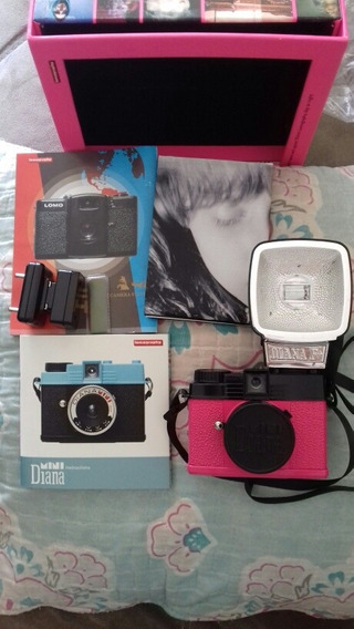 Câmera Fotográfica Mini Diana & Flash Lomography