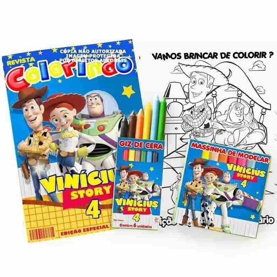 25 Kit Colorir Toy Story Revista Massinha Lembrança Festa