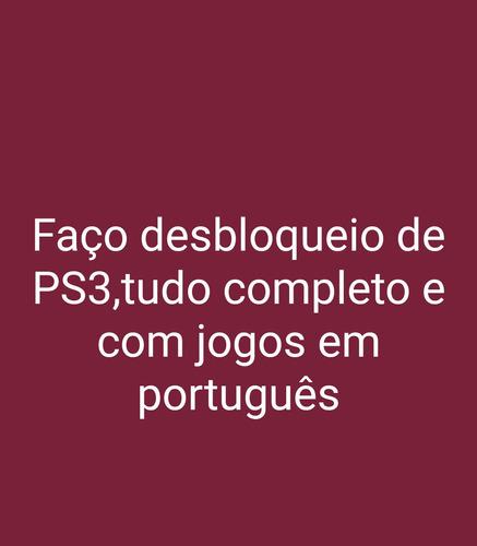 Imagem 1 de 1 de Faço Desbloqueio De Ps3 Com Jogos Em Português