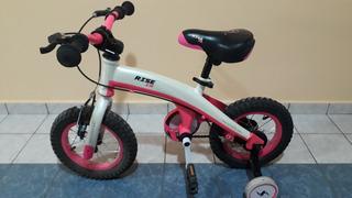 Bicicleta Niña Rodado 12 Stark Hypper Xr Fucsia C/ Rueditas