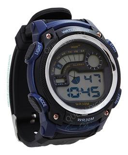 Reloj Sumergible 30m Deportivo Alarma Crono Luz Hombre Ocean